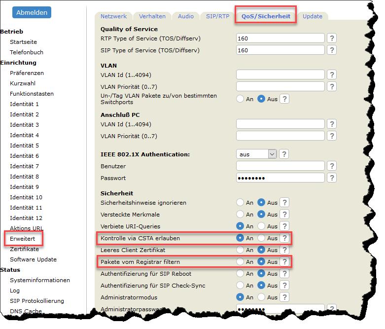 Configurazione uCCTA SNOM_E estesa