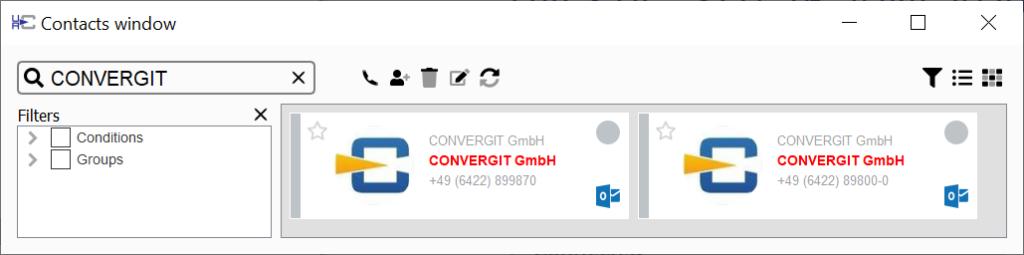 per uaCSTA können sie auf lokale Outlook-Kontakte zurückgreifen!
